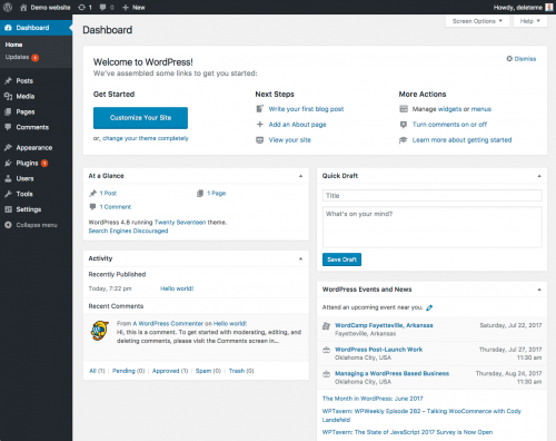 wordpress-dashbord